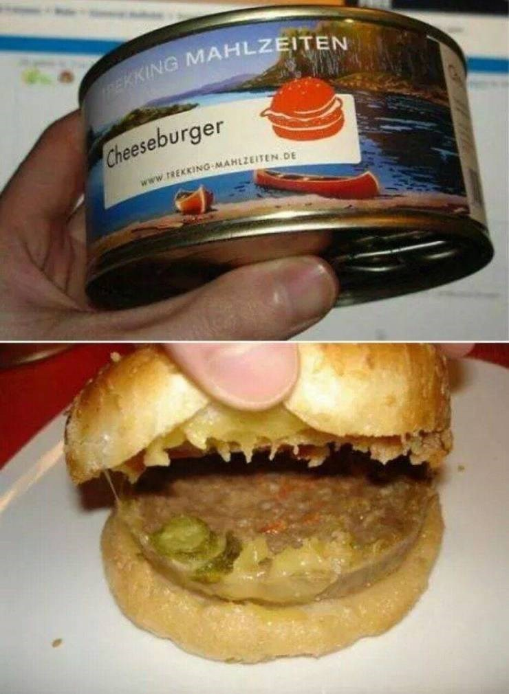 Funny picture - Canned cheeseburger