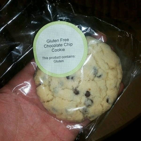 Expectation Vs Reality - Food - Gluten Free Chocolate Chip Cookie This product contains: Gluten
