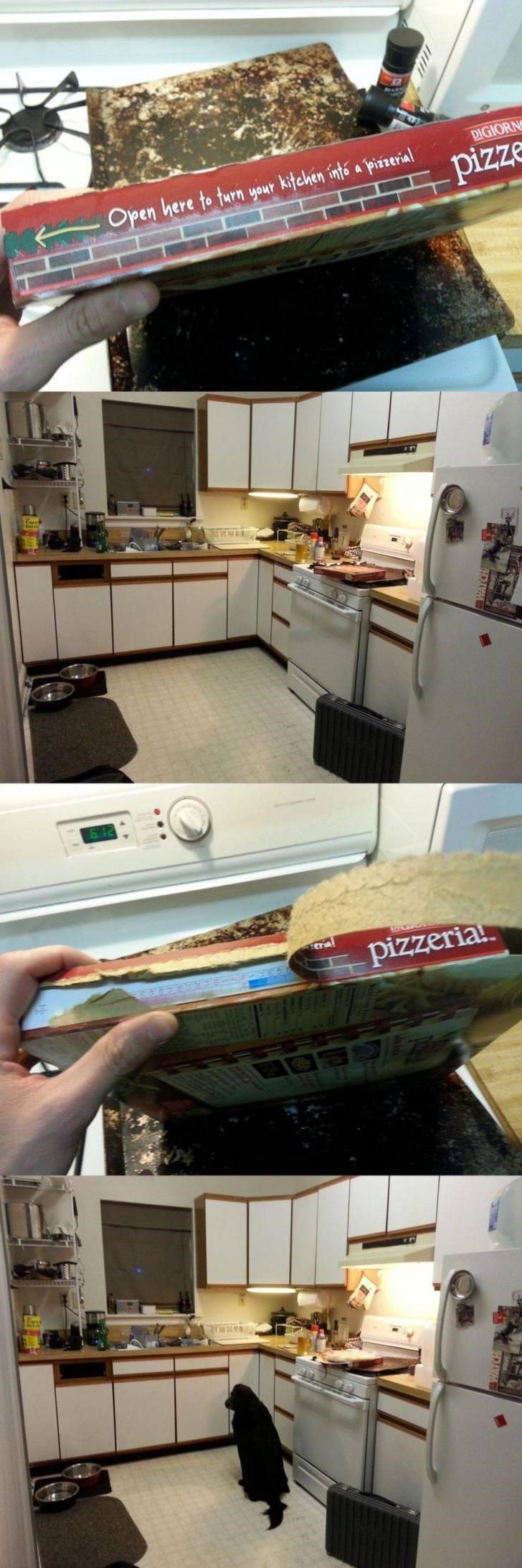 Expectation Vs Reality - Room - Open here to turn your kitchen intó a pizzerial DIGIORN pizze eria pizzeria! A