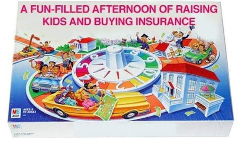 Amusement park - A FUN-FILLED AFTERNOON OF RAISING KIDS AND BUYING INSURANCE AGES MB T0 ADULU E