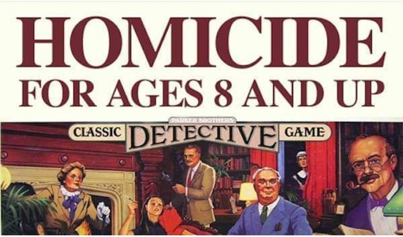 Font - НОМICIDE FOR AGES 8 AND UP SPARKER BAROTHERS DETECTIVE GAME CLASSIC HD