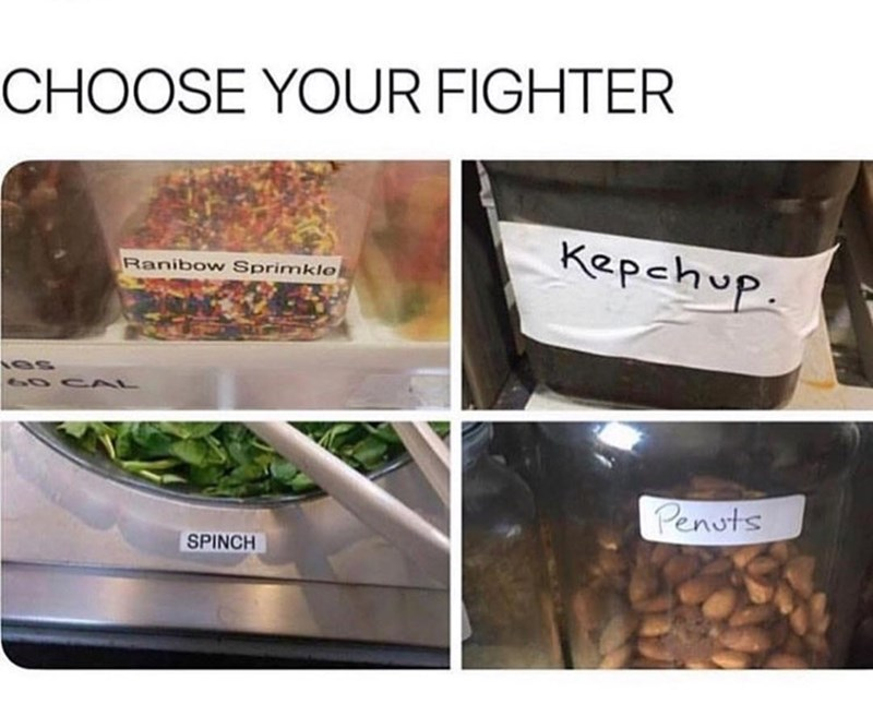 Superfood - CHOOSE YOUR FIGHTER Kepchup Ranibow Sprimkle 6OC AL Penots SPINCH