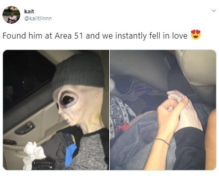 Vehicle door - kait @kaiitlinnn Found him at Area 51 and we instantly fell in love