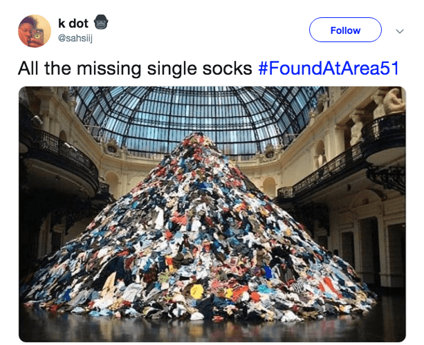 Waste - k dot Follow @sahsij All the missing single socks #FoundAtArea51