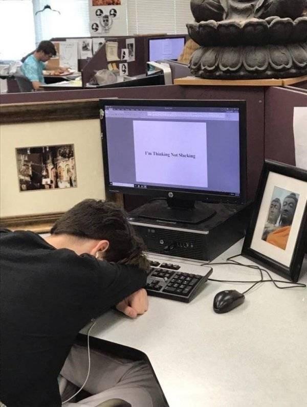 college meme - Furniture - Thinking Not Stacking