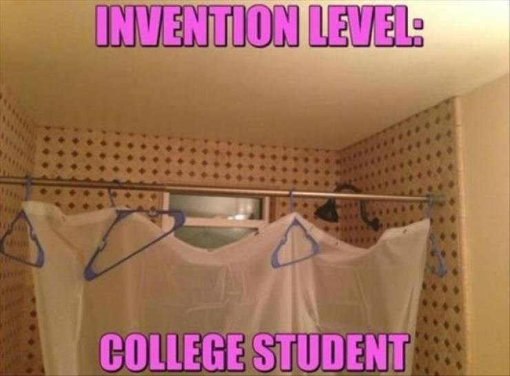 college meme - Pink - INVENTION LEVEL: COLLEGE STUDENT
