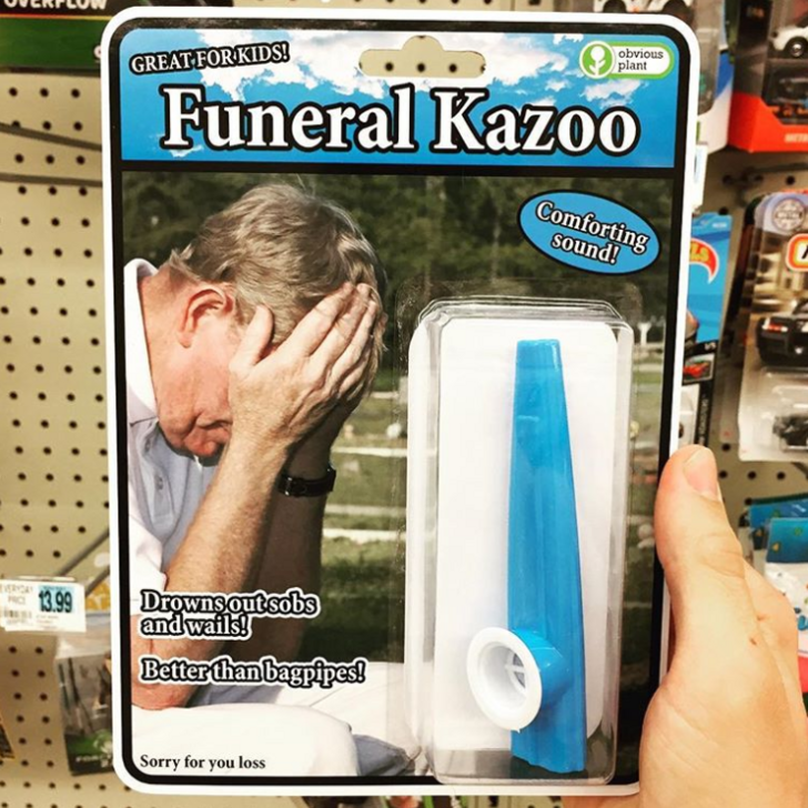 Finger - obvious plant GREAT FORKIDS Funeral Kazo0 Comforting sound! Drowns outsobs and wails! Better than bagpipes! 13.99 Sorry for you loss