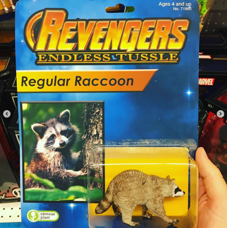 Animal figure - Ages 4 and up No. 71960 CHEVENDERS ENDLESSLTUSSLE Regular Raccoon ARVEL 10 10 obvious plant