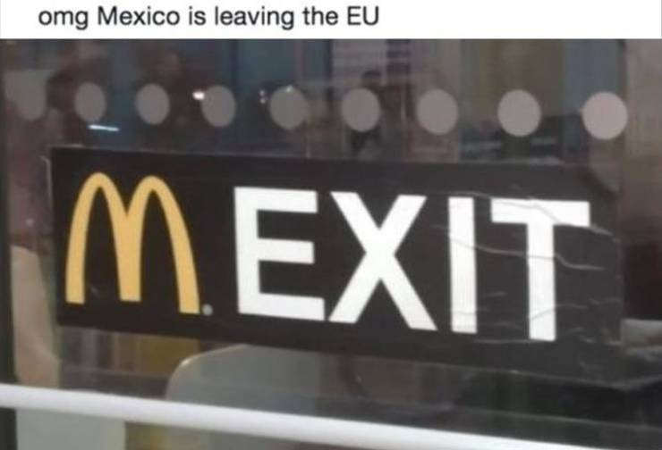 Vehicle registration plate - omg Mexico is leaving the EU MEXIT