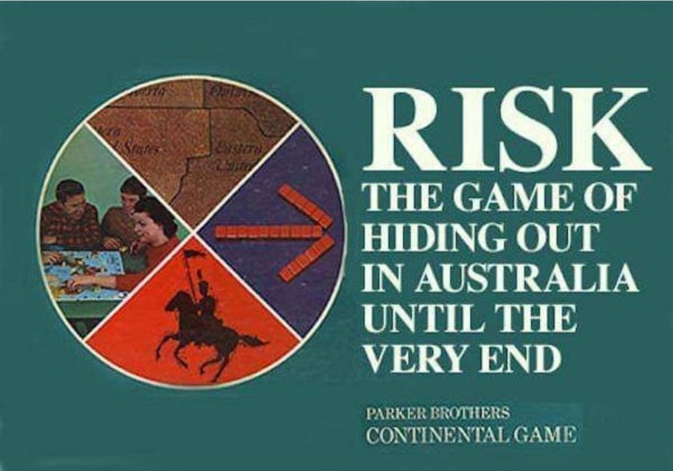 Text - RISK THE GAME OF HIDING OUT IN AUSTRALIA UNTIL THE VERY END PARKER EROTHERS CONTINENTAL GAME