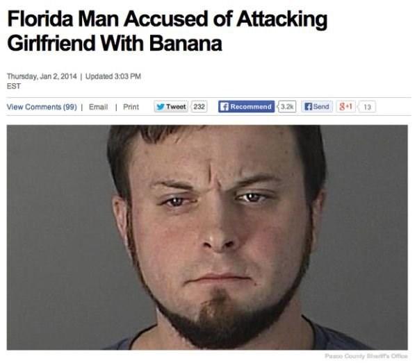 "Headline - ""Florida Man Accused of Attacking Girlfriend With Banana"""