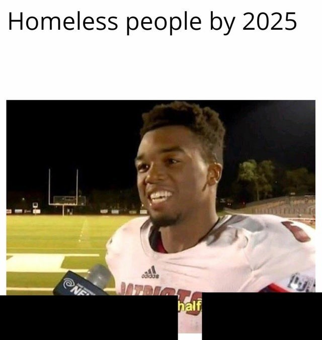 Facial expression - Homeless people by 2025 ENO half