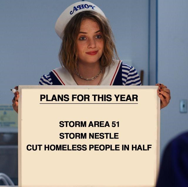 Job - ВОБ PLANS FOR THIS YEAR STORM AREA 51 STORM NESTLE CUT HOMELESS PEOPLE IN HALF