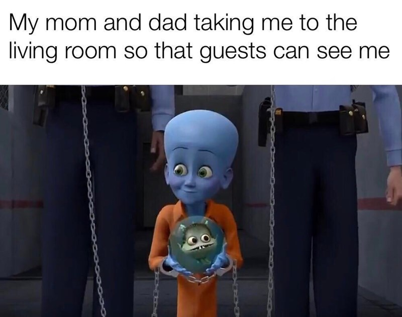 Animation - My mom and dad taking me to the living room so that guests can see me