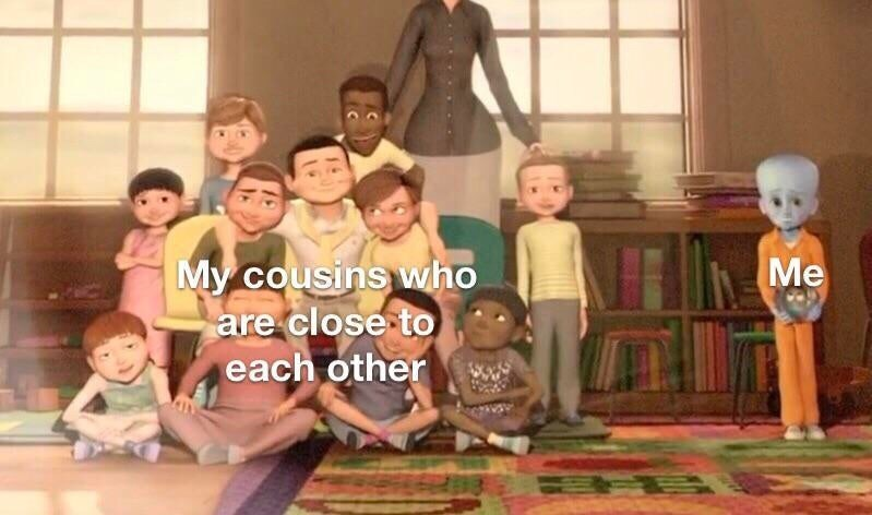 People - My cousins who are close to Me each other