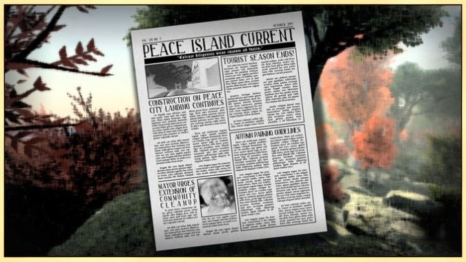 Text - PEACE ISLAND CURRENT TOURIST SEASON ENDS CONSTRUCTION ON PEACE CITY LANDINO CONTINES 4 b MAYOR UROES EXTEISION OF CONMUNITY CLEANUP