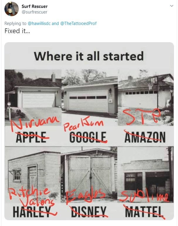 Product - Surf Rescuer @surfrescuer Replying to @hawillisdc and @TheTattooedProf Fixed it... Where it all started NaPetom GOOGLE AMAZON co Rotldne Vatens HARLEY BISNEY MATTEL