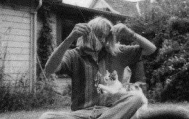 kurt cobain - Black-and-white