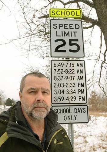 design fail - Signage - SCHOOL SPEED LIMIT 25 6:49-7:15 AM 7:52-8:22 AM 8:37-9:07 AM 2:03-2:33 PM 3:04-3:34 PM 3:59-4.29 PM SCHOOL DAYS ONLY