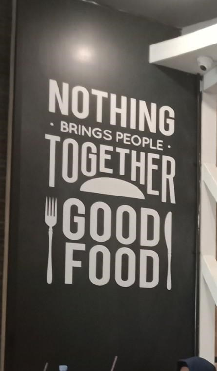 design fail - Font - NOTHING BRINGS PEOPLE TOGETHER GOOD FOOD
