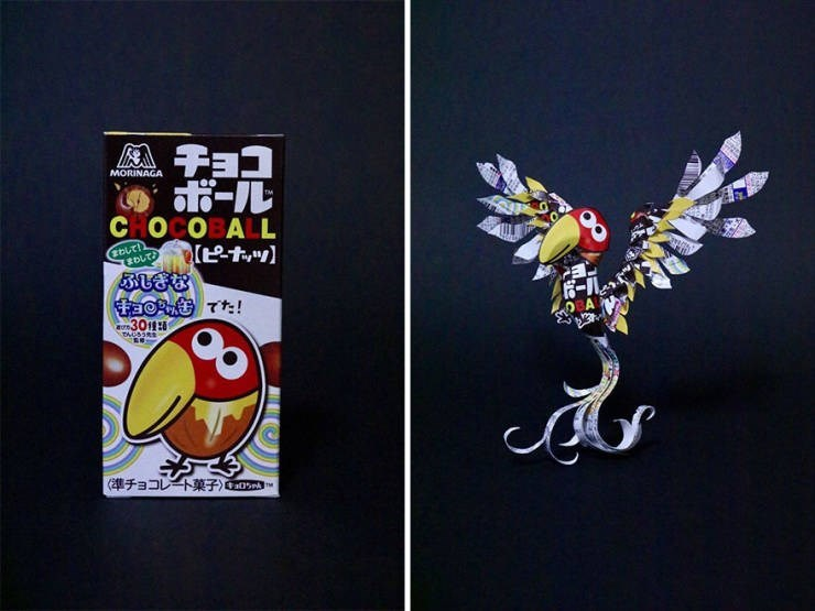 machine art - Cartoon - MORINAGA CHOCOBALL FacR C T! n301
