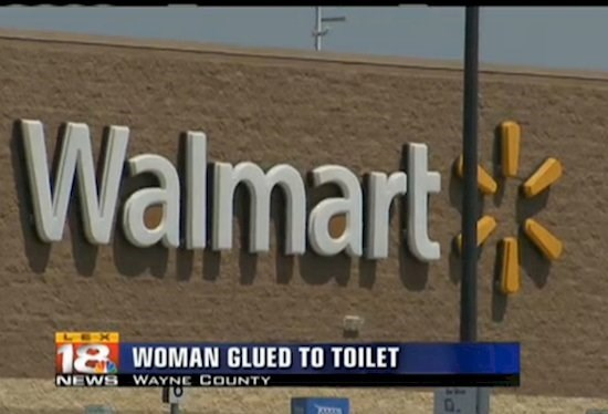 """Funny picture - """"WOMAN GLUED TO TOILET"""""""