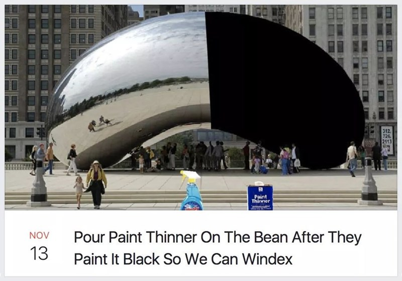 Architecture - 312 Paint Thinner Pour Paint Thinner On The Bean After They NOV 13 Paint It Black So We Can Windex