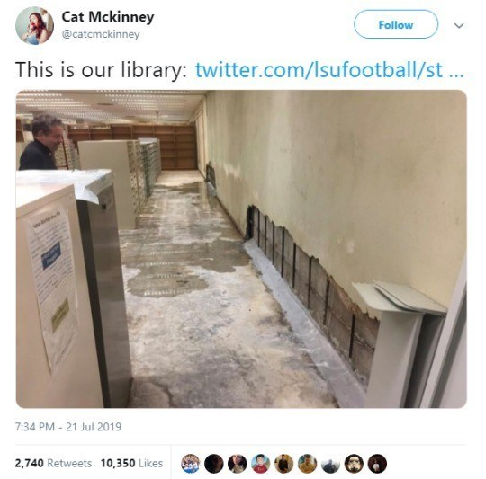 """Tweet - """"This is our library"""""""
