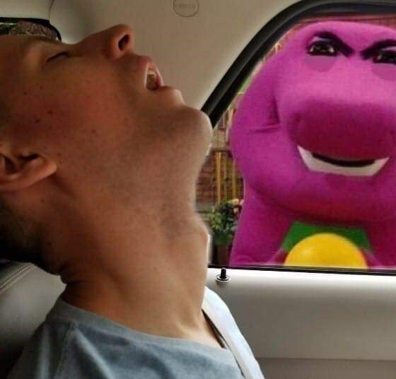 Funny photoshopped picture with Barney the Dinosaur