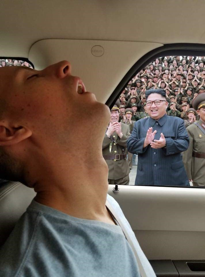 Funny photoshopped picture with Kim Jong Un
