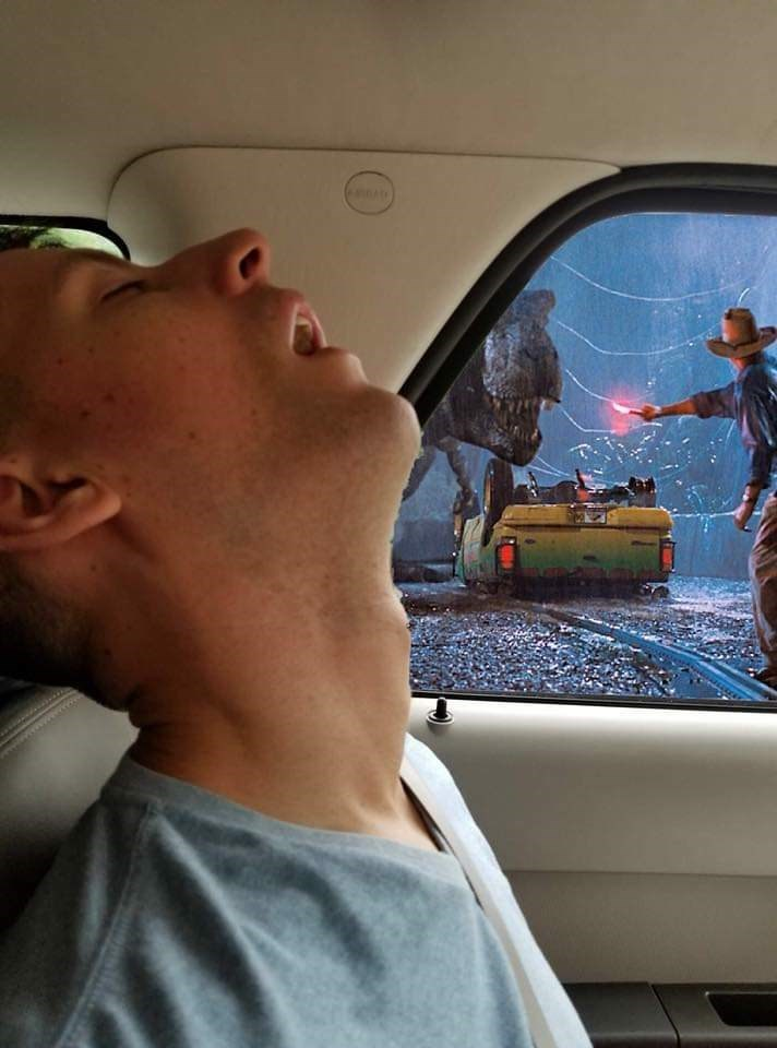 Funny photoshopped picture with Jurassic Park