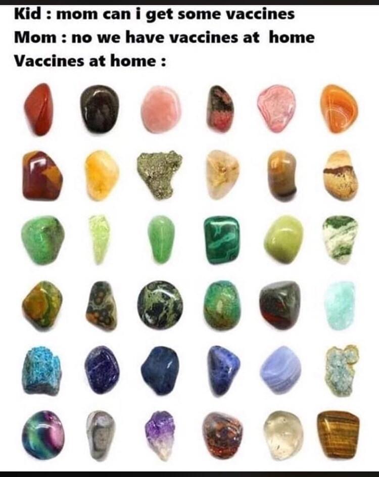 Fashion accessory - Kid: mom cani get some vaccines Mom: no we have vaccines at home Vaccines at home