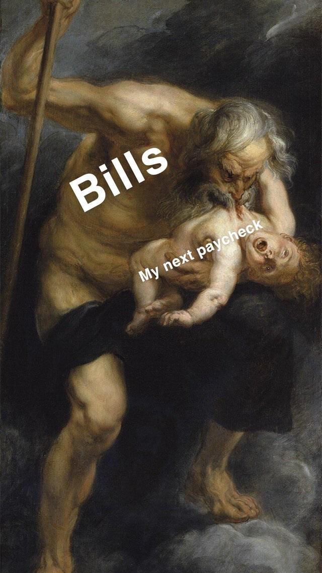 Art - Bills My next paycheck