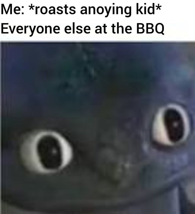 meme - Text - Me: *roasts anoying kid* Everyone else at the BBQ