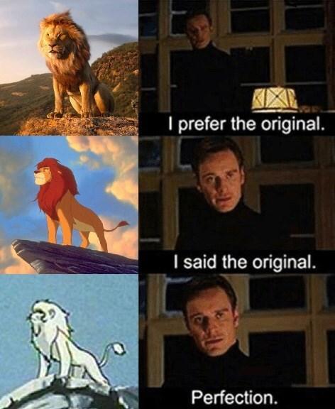 Animated cartoon - prefer the original. I said the original. Perfection.