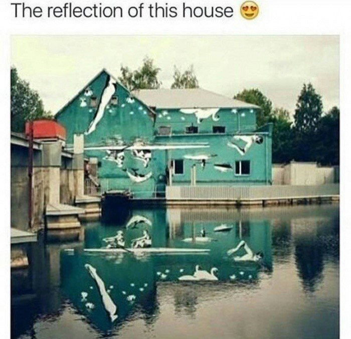 Water - The reflection of this house