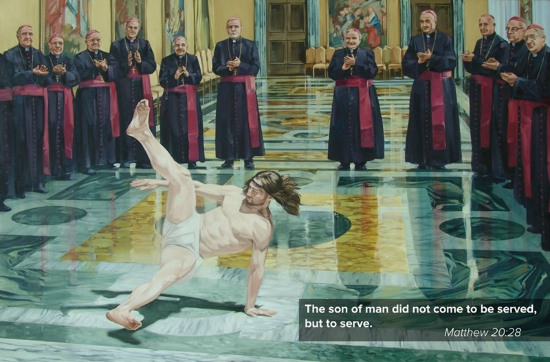 Art - The son of man did not come to be served, but to serve. Matthew 20:28