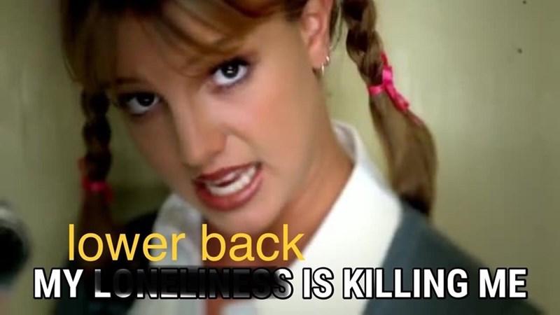 "Meme - Britney Spears - ""My lower back IS KILLING ME"""