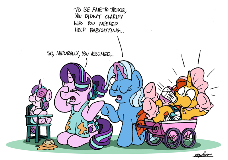 the great and powerful trixie sunburst bob the dalek flurry heart starlight glimmer - 9337690880