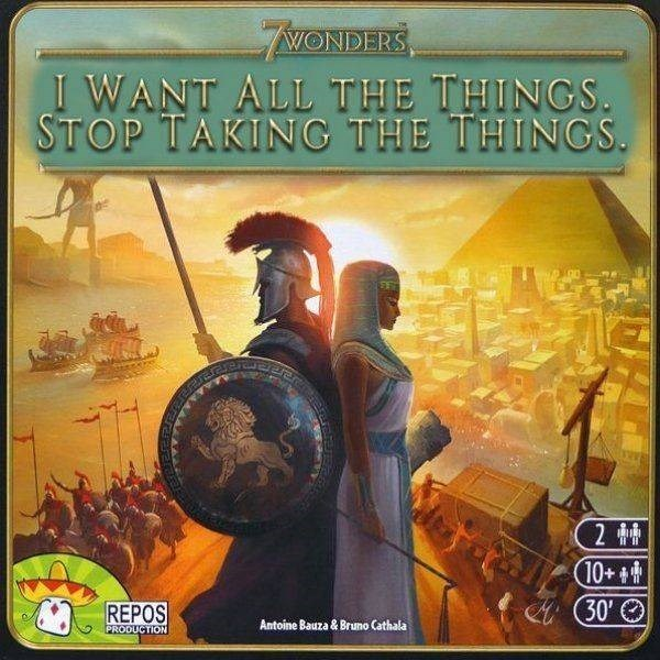 Pc game - WONDERS I WANT ALL THE THINGS STOP TAKING THE THINGS. 2 # 10+ 30' REPOS Antoine Bauza & Bruno Cathala PRODUCTION