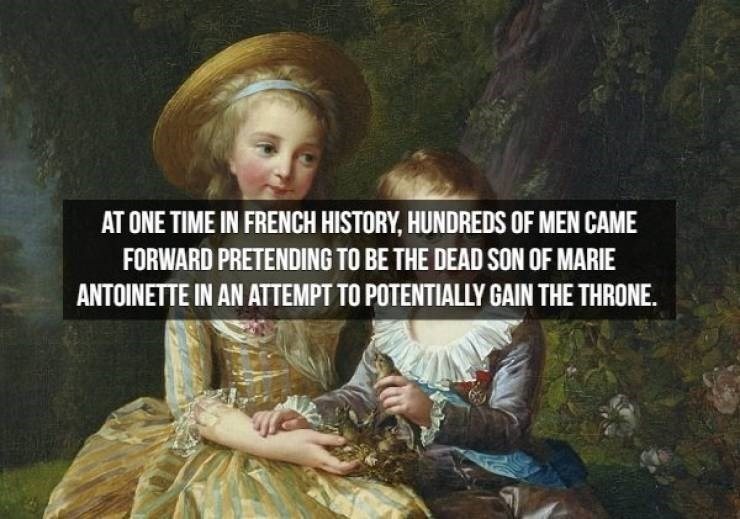 Friendship - AT ONE TIME IN FRENCH HISTORY, HUNDREDS OF MEN CAME FORWARD PRETENDING TO BE THE DEAD SON OF MARIE ANTOINETTE IN AN ATTEMPT TO POTENTIALLY GAIN THE THRONE