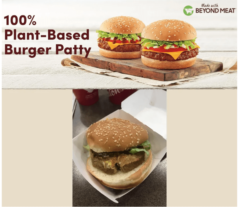 Food - Made with BEYOND MEAT 100% Plant-Based Burger Patty