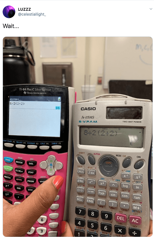 Math - Office equipment - LUZZZ @celestiallight Wait... TI-84 Plus C Silver Edition TEXAS INSTRLIMENTS HISTORY CASIO 8/2(2+2) 16 fx-115MS TWO WAY POWER S-VPA.M 8+2(2 2) TABLE FS TAT PLOT FI TLSET 2 FORMAT F3 CALC F GRAPH TEACE ON oow MODE CLR SHIFT ALPHA COPY REPLAY QurT INS 2ND SOLVE dx x! LOGIC MODE DEL ALOCK /dx CALC x-1 ALPHA XTen STAT die rHEX 10 BIN e OCT e DEC ANGLE ablc DISTR x2 log in C sin Dcos E tan F MATH MAA APPS VADE PRGM hyp sin Cos tan SIN CCs STO Y M- M RCL ENG M+ Larg LAbs Conj