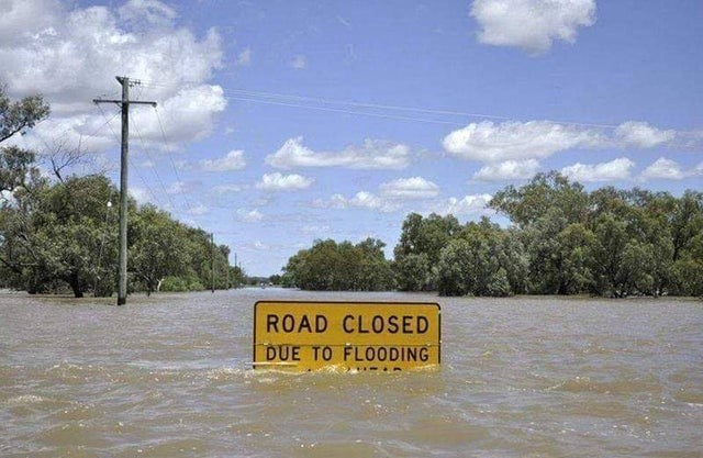 Water resources - ROAD CLOSED DUE TO FLOODING
