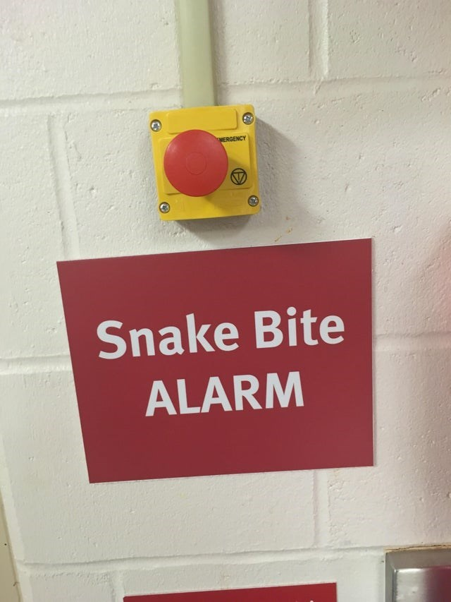 Red - MERGENCY Snake Bite ALARM