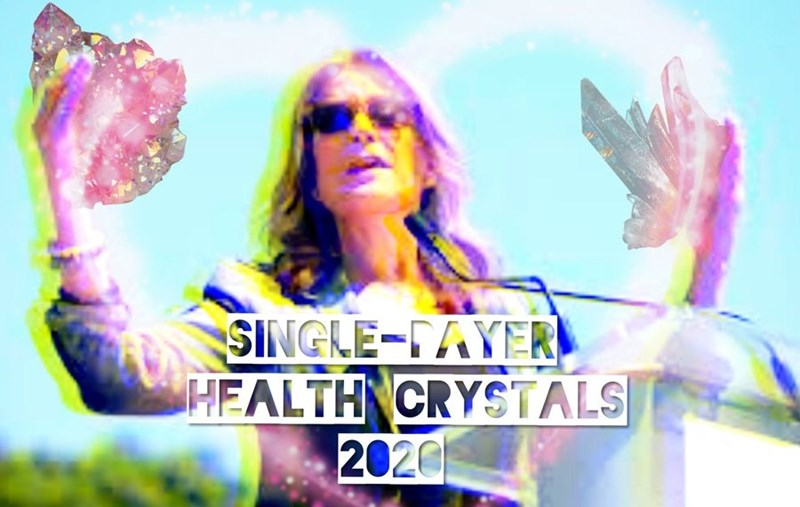 Marianne Williamson - Album cover - SINGLE-TAYER HEALTH CRYSTALS| 2020