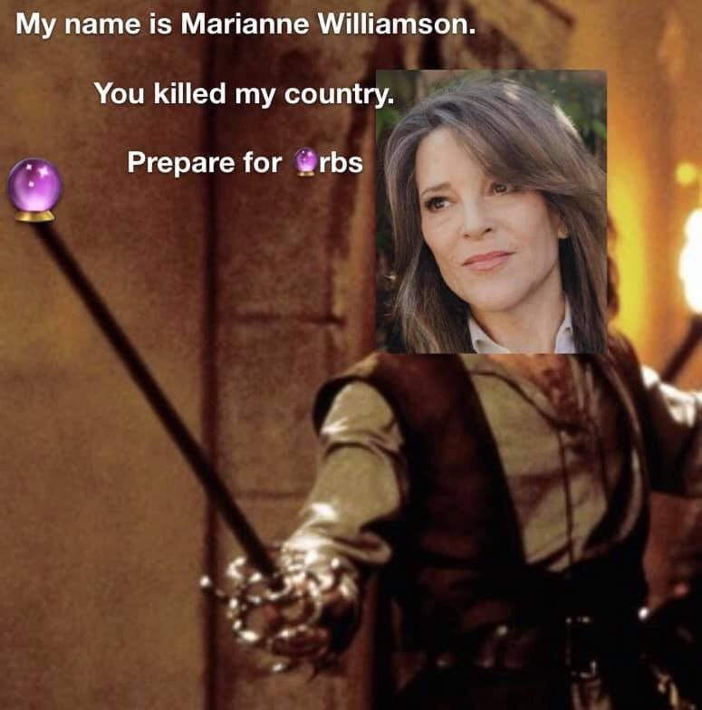 Marianne Williamson - Smile - My name is Marianne Williamson. You killed my country. Prepare for rbs