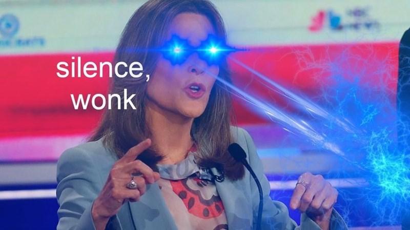 Marianne Williamson - Eyewear - silence, wonk