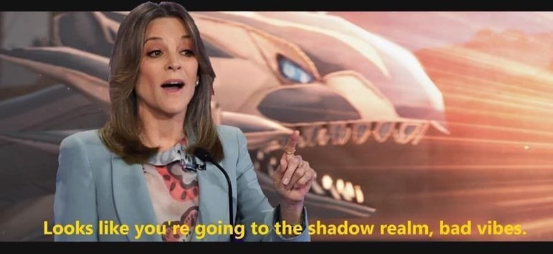 Marianne Williamson - Mouth - Looks like you re going to the shadow realm, bad vibes.