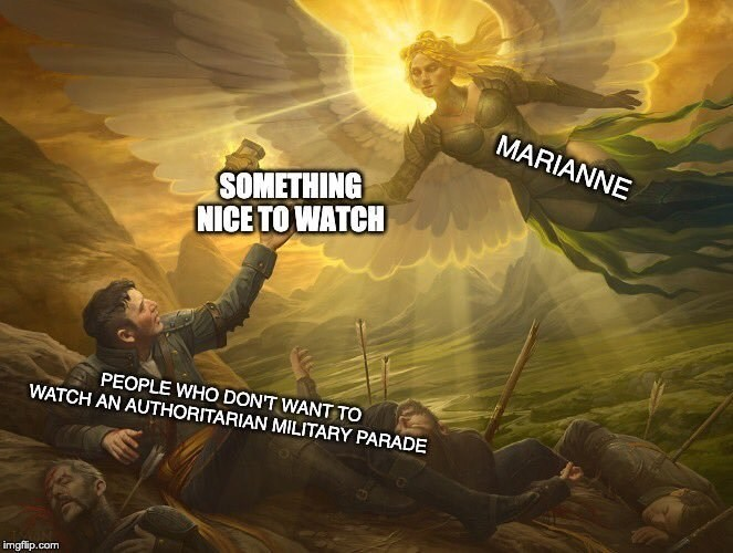 Marianne Williamson - Action-adventure game - MARIANNE SOMETHING NICE TO WATCH PEOPLE WHO DON'T WANT TO WATCH AN AUTHORITARIAN MILITARY PARADE imgflip.com